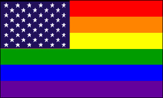 Rainbow & Stars Flag (3ft x 5ft)