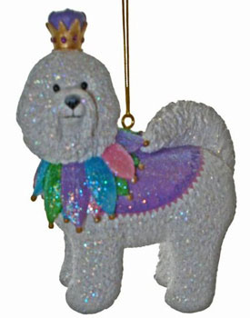 Buttons the Bichon Ornament