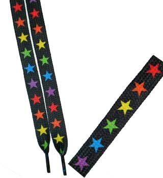 Rainbow Stars Shoelaces