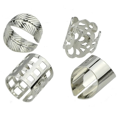 Polished (4) Rings Set