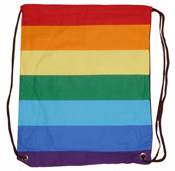 Rainbow Canvas Backpack Bag
