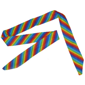 "Rainbow ""COOL-OFF"" Tie / Headband"