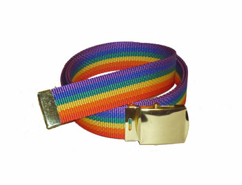 Rainbow Nylon Poly Belt