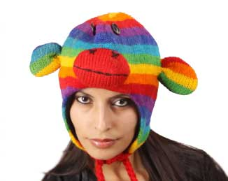 Rainbow Monkey Cap