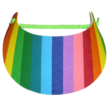Rainbow Stripe Visor
