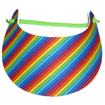 Rainbow Diagonal Stripe Visor