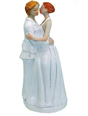 Lesbian Brides Kissing Cake Topper