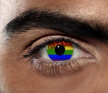 Rainbow Contact Lens