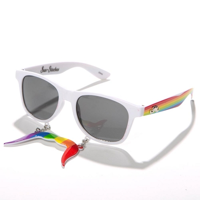 Rainbow Moustache Sunglass