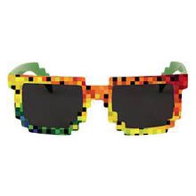 Rainbow Pixel Glasses