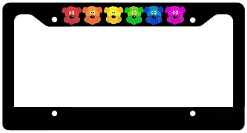Rainbow Dogs License Frame