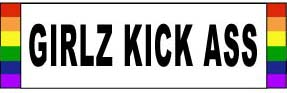 Girlz Kick Ass Sticker