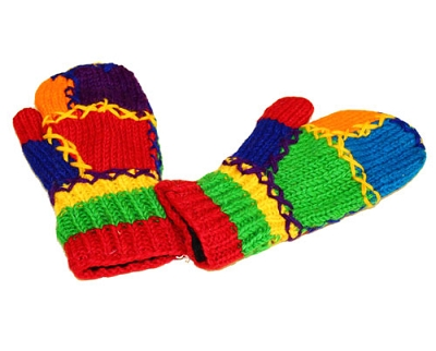 Rainbow Wool Gloves