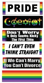 Rainbow Pride Mini Sticker Set