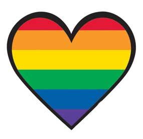 Mini Rainbow Gay Pride Heart Sticker