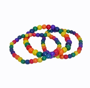 Rainbow Bead Bracelet (3 pieces)