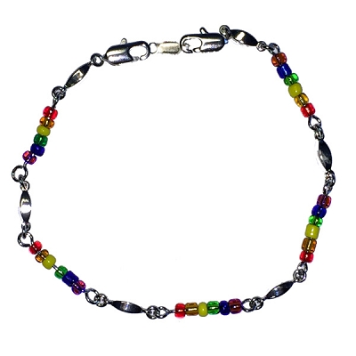 Rainbow Bead Bracelet / Necklace