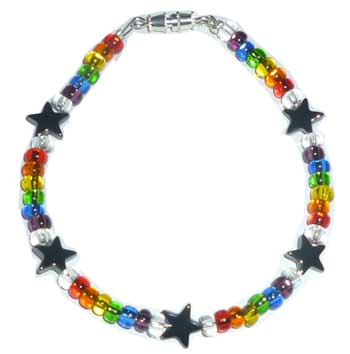 Small Glass Star Beads Bracelet