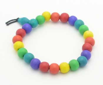 Rainbow Wood Bead Bracelet