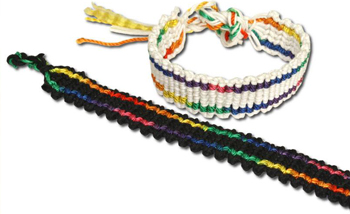 Rainbow Wide Braid Friendship Bracelet