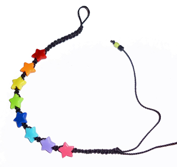 Rainbow Star Bead Bracelet