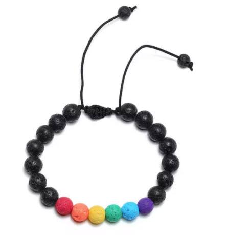 Rainbow Bead Bracelet