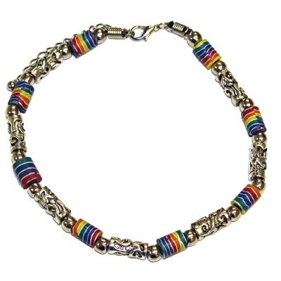 Rainbow Bead Bracelet / Anklet