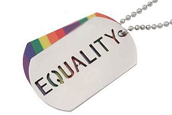 Rainbow / Equality Double ID Tag / Necklace