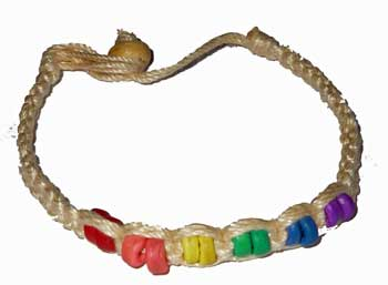 Rainbow Ceramic Beads Woven Bracelet
