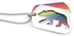 Rainbow Bear ID Tag/Necklace
