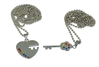 Heart / Key Pendant Necklace