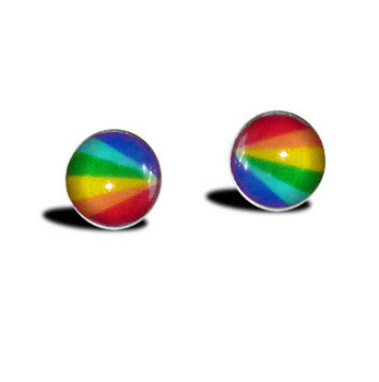 Rainbow Dot Earrings