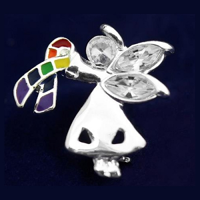 Angel By My Side Rainbow Pins