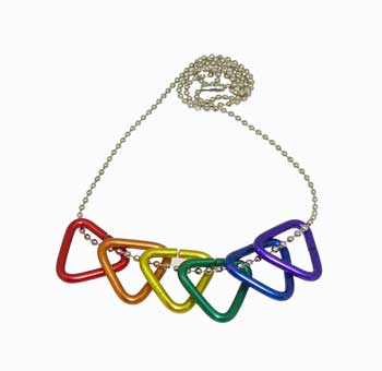 Rainbow Triangle Necklace