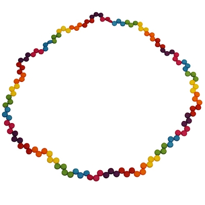 Rainbow Chip Necklace