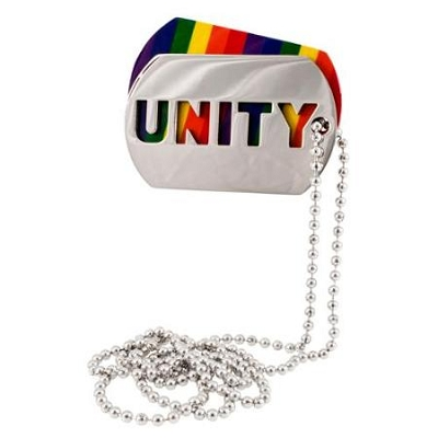 Unity Rainbow ID Tag/Necklace