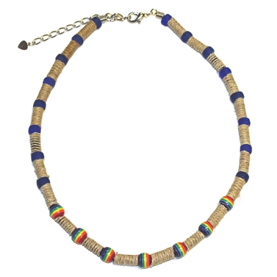 Rainbow Bead Necklace