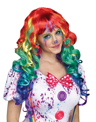 Rainbow Curly Wig