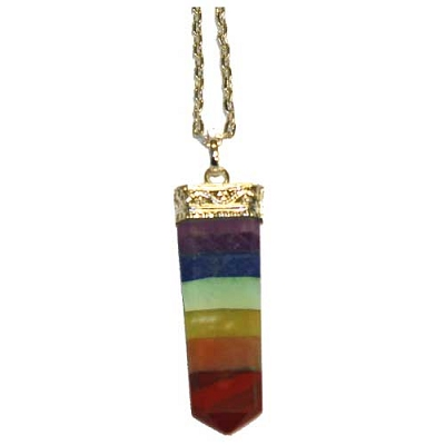 Rainbow Chakra Point Pendant