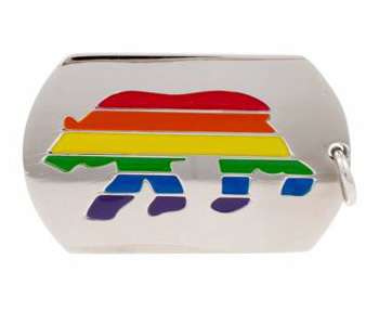 Rainbow Bear Necklace ID Tag / Necklace