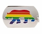 Rainbow Bear Necklace ID Tag