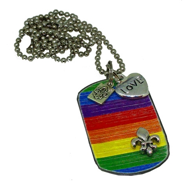 Rainbow Pride Metal ID Tag / Necklace