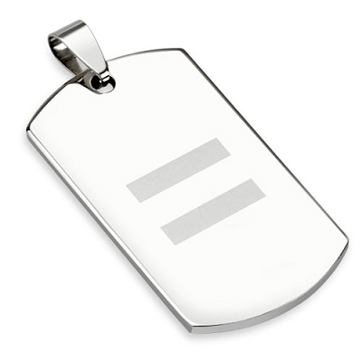 Equal Sign Dog Tag