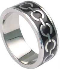 Enamel Chain Design Ring