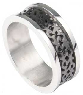 Double Male Gay Stainless Ring