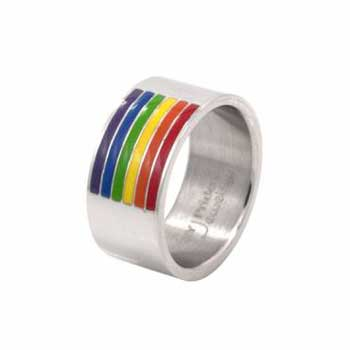 Rainbow Channel Design Pride Ring
