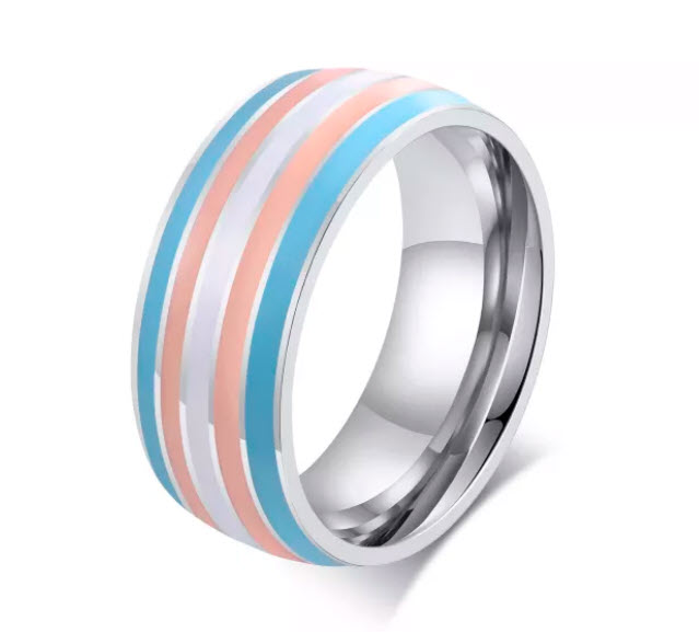 Rainbow Stones Gold Ring  (size 6 only)