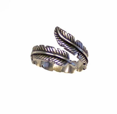 Feather Shape Cuff Ring
