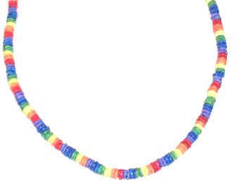 Rainbow Puka Shell Necklace