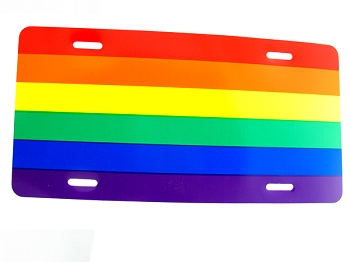 Rainbow License Plate (or Display)